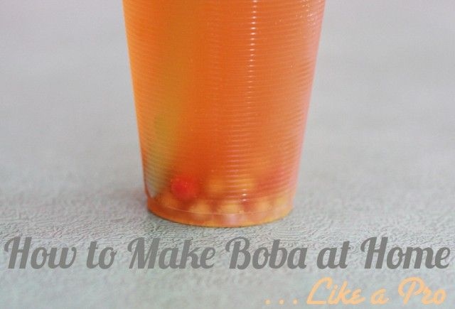 how to make boba pearls chewy