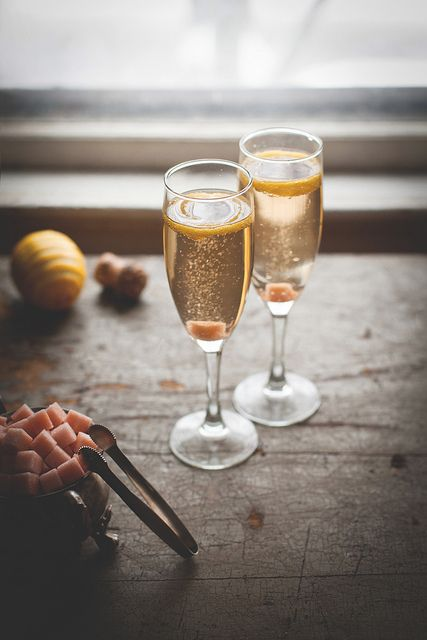 Champagne Cocktail with Homemade Angostura Sugar Cubes by carey nershi | Reclaiming Provincial
