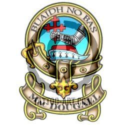"MacDOUGALL Clan Badge 2/"" Scottish NEW Scotland Crest Pin Badge"