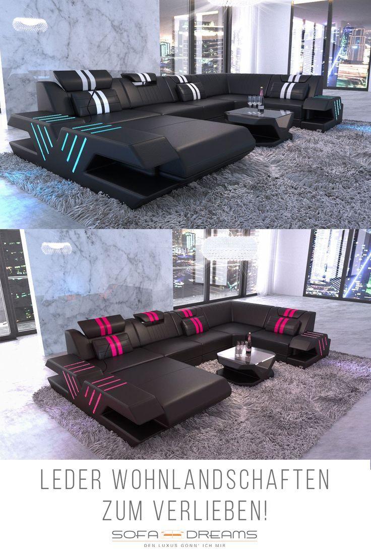 Xxl Wohnlandschaft Venedig Leder Ecksofa Design Wohnzimmermöbel Modern Schlafzimmer Design