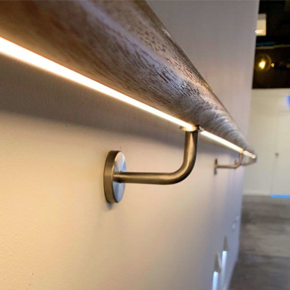 Led Tasmanian Oak Handrail Tecled Flat Flex