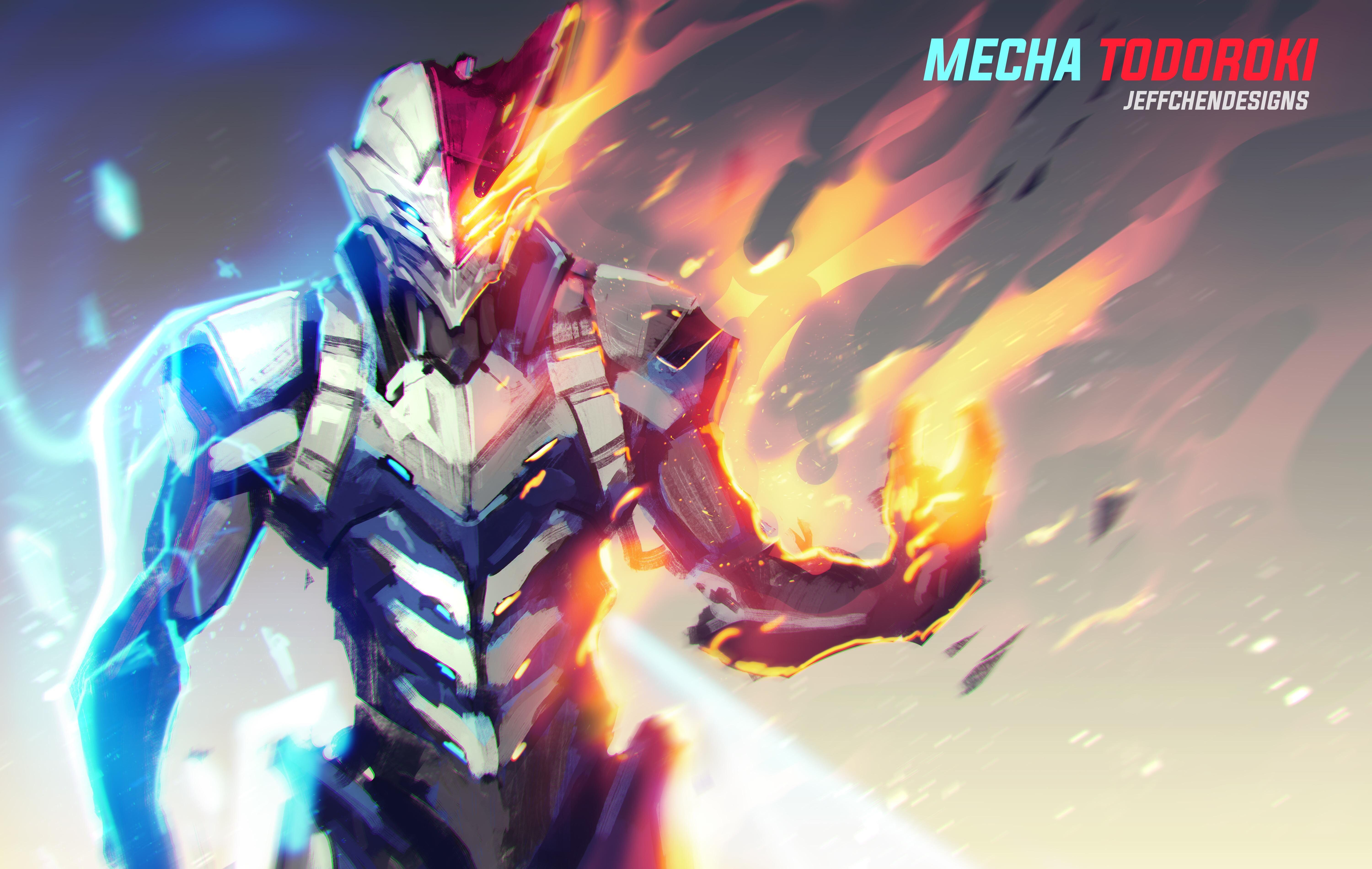 Mecha Todoroki Credit To Almightyjeff On Reddit With Images