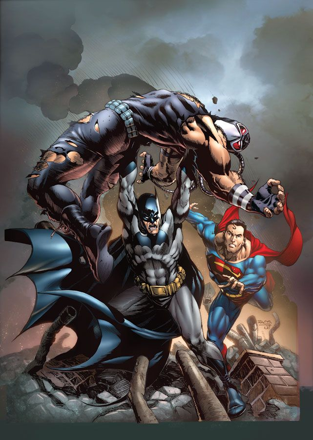 Batman want to revenge Bane and Superman stop batman don't kill.