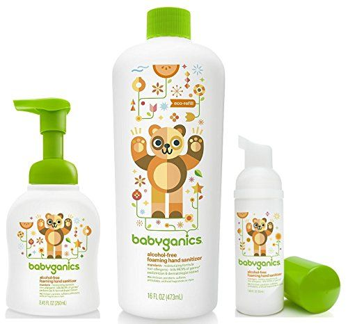 Babyganics Foam Hand Sanitizer With Refill Bottle On The Go Set