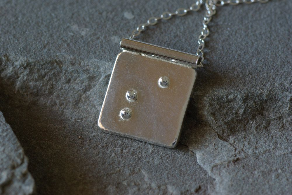 Initial Braille Necklace Braille Jewelry Bridesmaid Jewelry