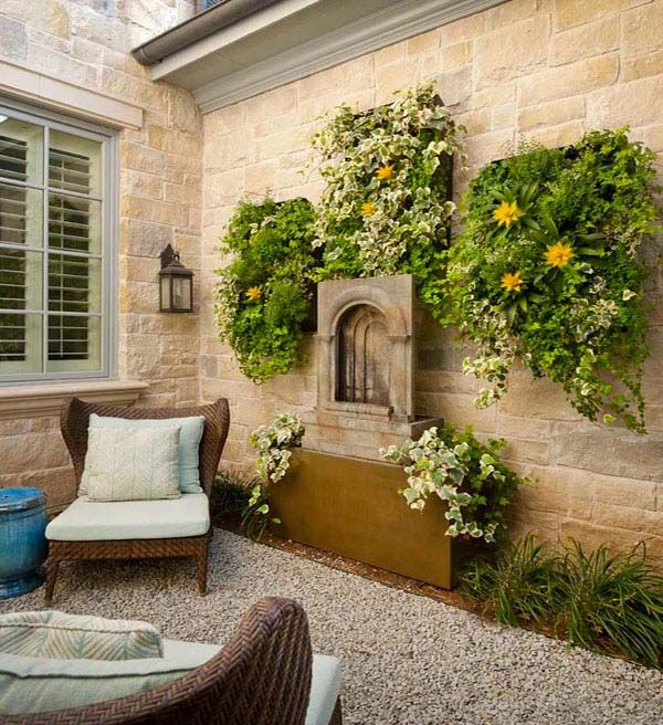 Summer Fun In The Sun 41 Playful Outdoor Living Spaces Patio Small Backyard Patio Outdoor Walls
