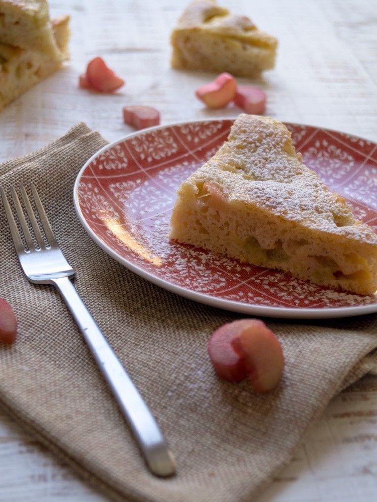 Rhabarber-Buttermilch-Ecken | danielas foodblog | Histaminarm kochen und backen