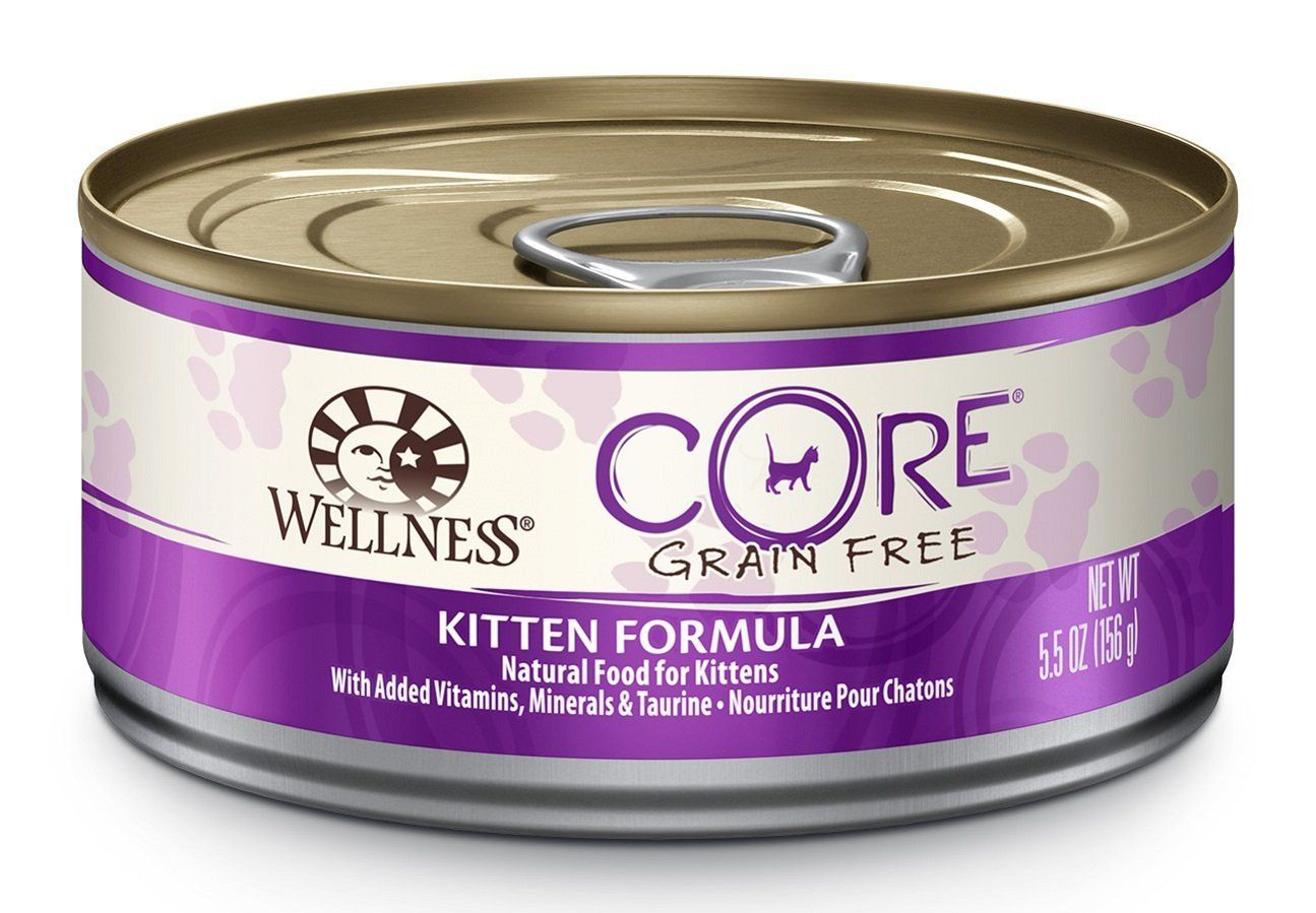 Wellness CORE Natural Grain Free Wet Canned Cat Food, 5.5