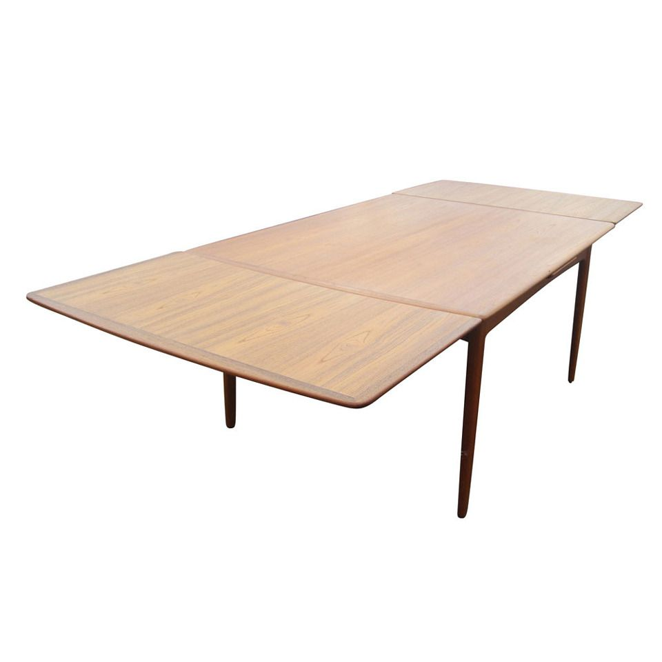 Danish Teak Dining Table With Sliding Leaves Designedarne Pleasing Teak Dining Room Furniture Review