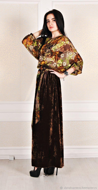 b8747f44632 Платье в пол (шифон+бархат) – купить в интернет-магазине на Ярмарке ...