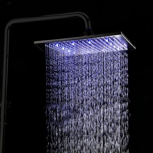 12 Inch Color Changing Led Stainless Steel Oil Rubbed Bronze