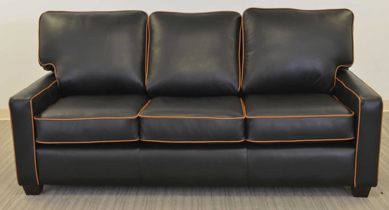 Metro Sofa with contrast welt ‹‹ The Leather Sofa Company ...