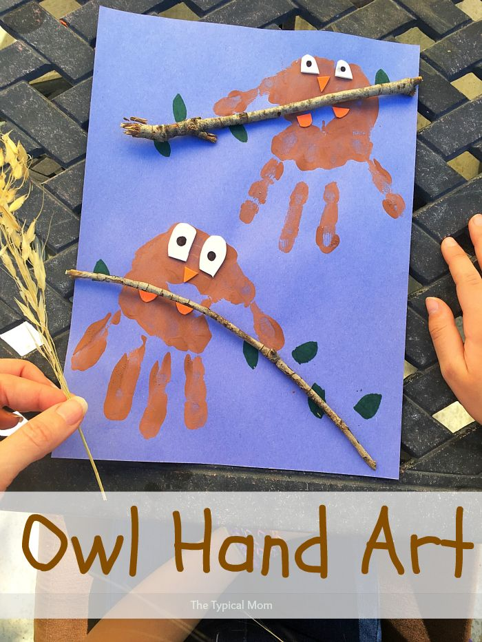Owl Hand Art Project For Kids Easy To Do And A Great Project To Do