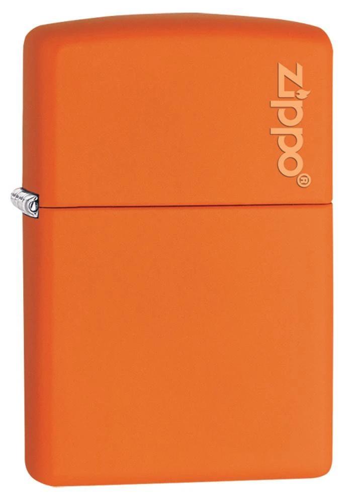 Classic Orange Matte Zippo Logo In 2020 Zippo Zippo Lighter Lighter Fuel