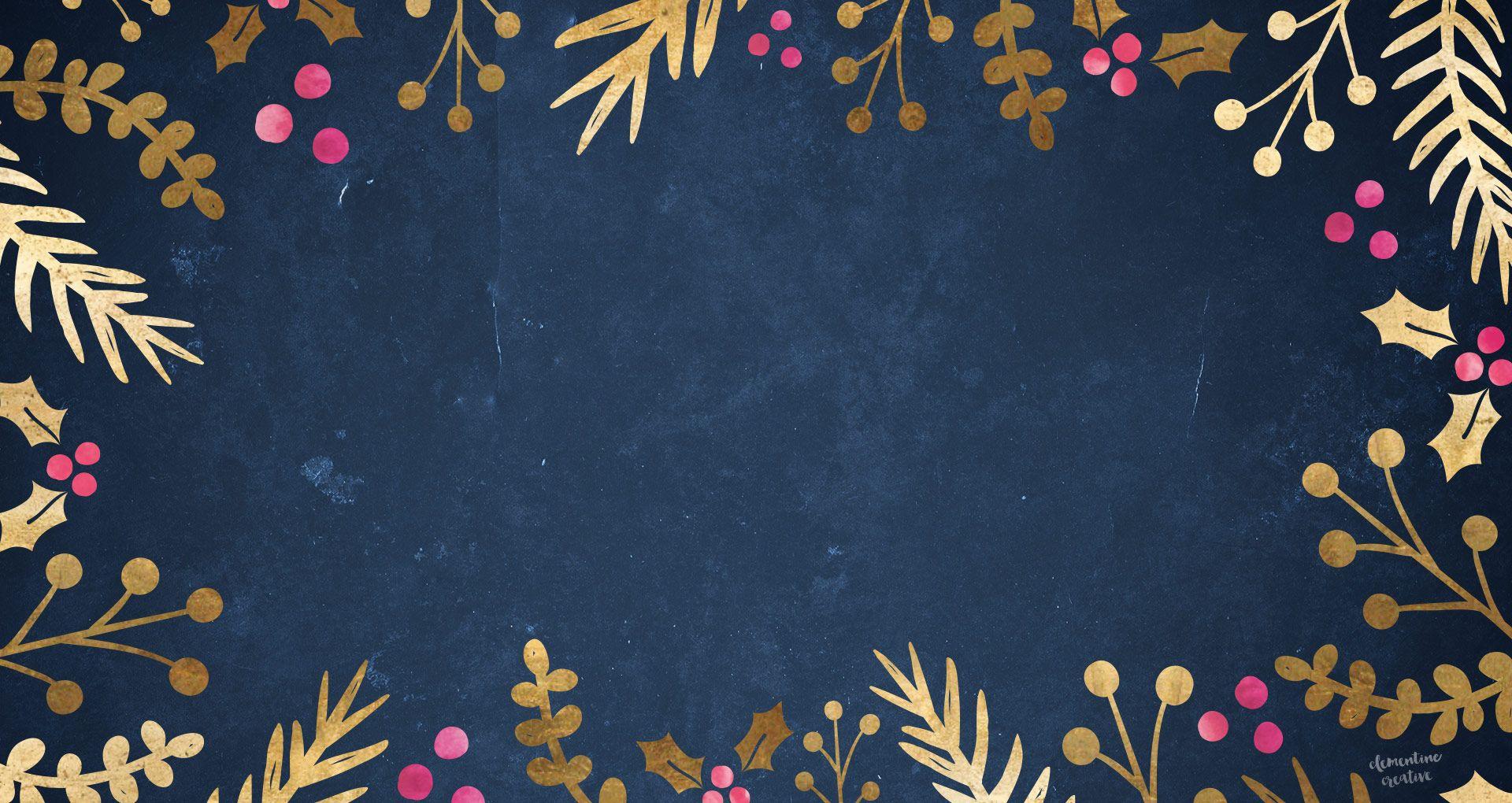 Free Cute Ipad Wallpapers Free Festive Wallpaper Gold Foil Foliage Wallpaper