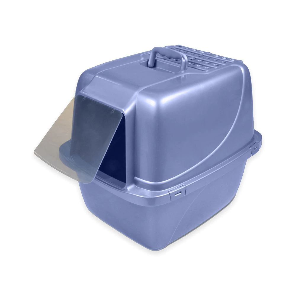 Van Ness Giant Enclosed Cat Litter Pan in Blue in 2020
