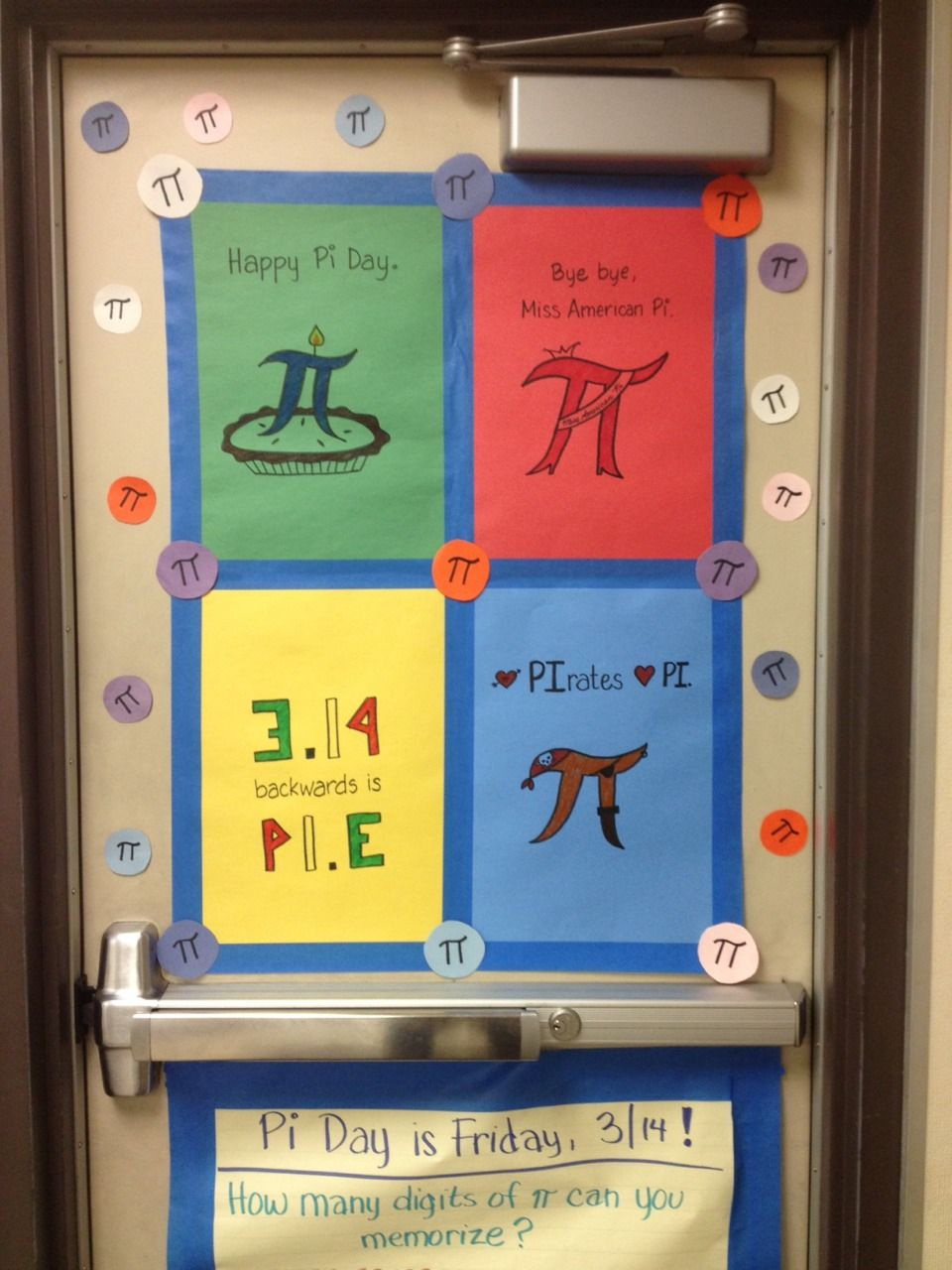 I Decorated My Door For Pi Day Family Math Night Fun Math Happy Pi Day [ 1280 x 960 Pixel ]