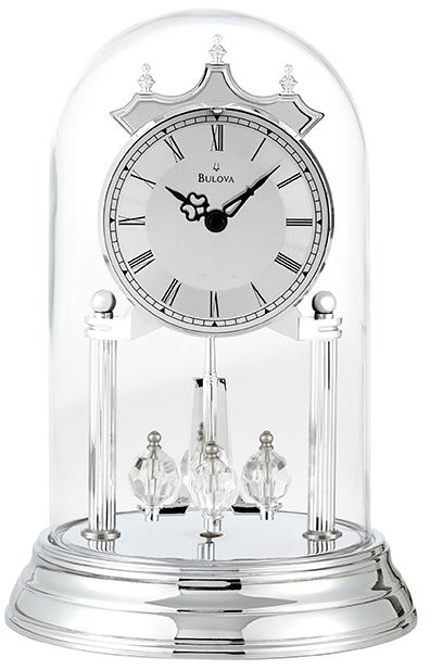 Clocks Curio Wine Cabinets Clockshops Com Anniversary Clock Clock Chrome Finish
