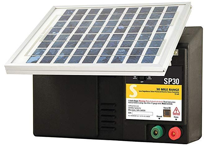 Zareba Esp30m Z Solar Powered Low Impedance 30 Mile Range
