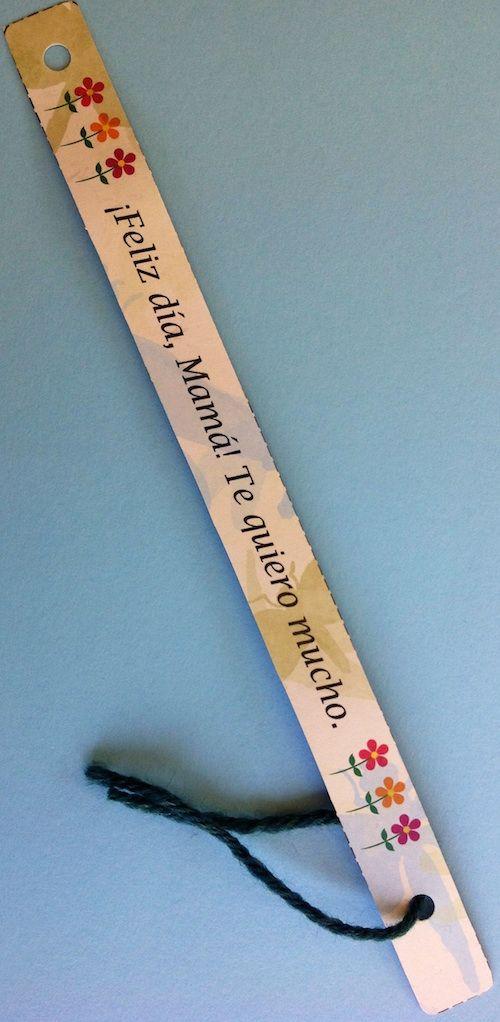 Mother\u0027s Day Gift in Spanish - Printable Bracelets Spanish for