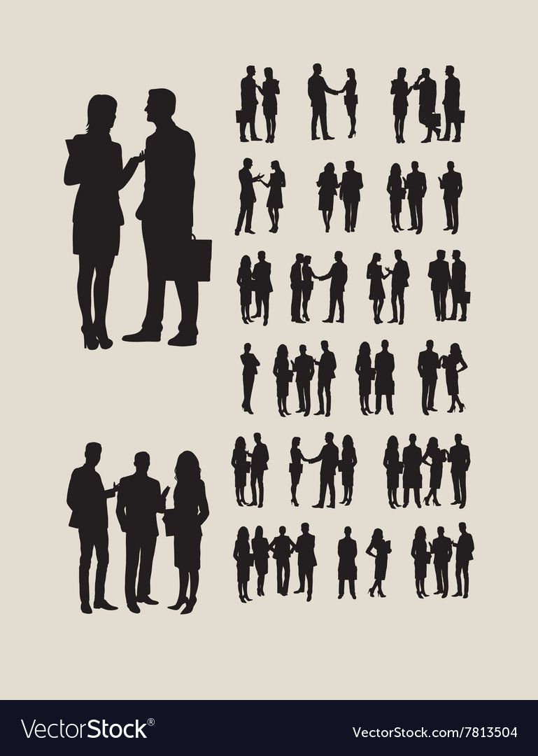 Business Silhouettes Royalty Free Vector Image Aff Royalty Silhouettes Business Image Ad Kids Silhouette Book Silhouette Vector Free