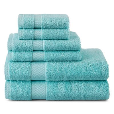 Aruba Blue 6 Pc Bath Towel Set Turquoise My Favorite