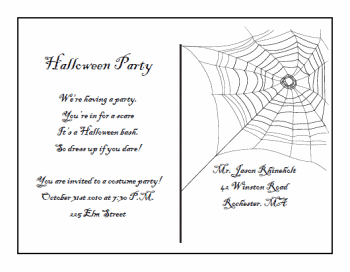 free printable halloween invitation templates printable halloween postcard invitations - Free Halloween Invite Templates