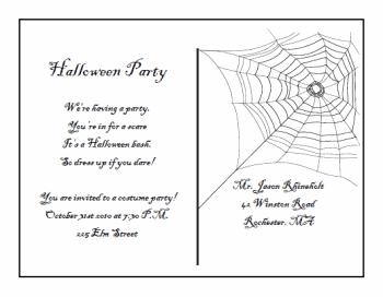 free halloween postcard invitation images add text