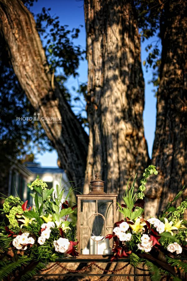 Ceremony decorations at Carnton Plantation