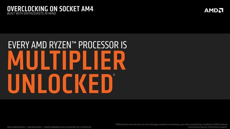 All AMD Ryzen CPUs will be unlocked and all X300 series
