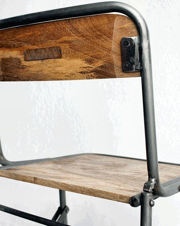 Ha vuelto taburete folding plegable interiorismo hosteler a bar debares - Taburete bar plegable ...