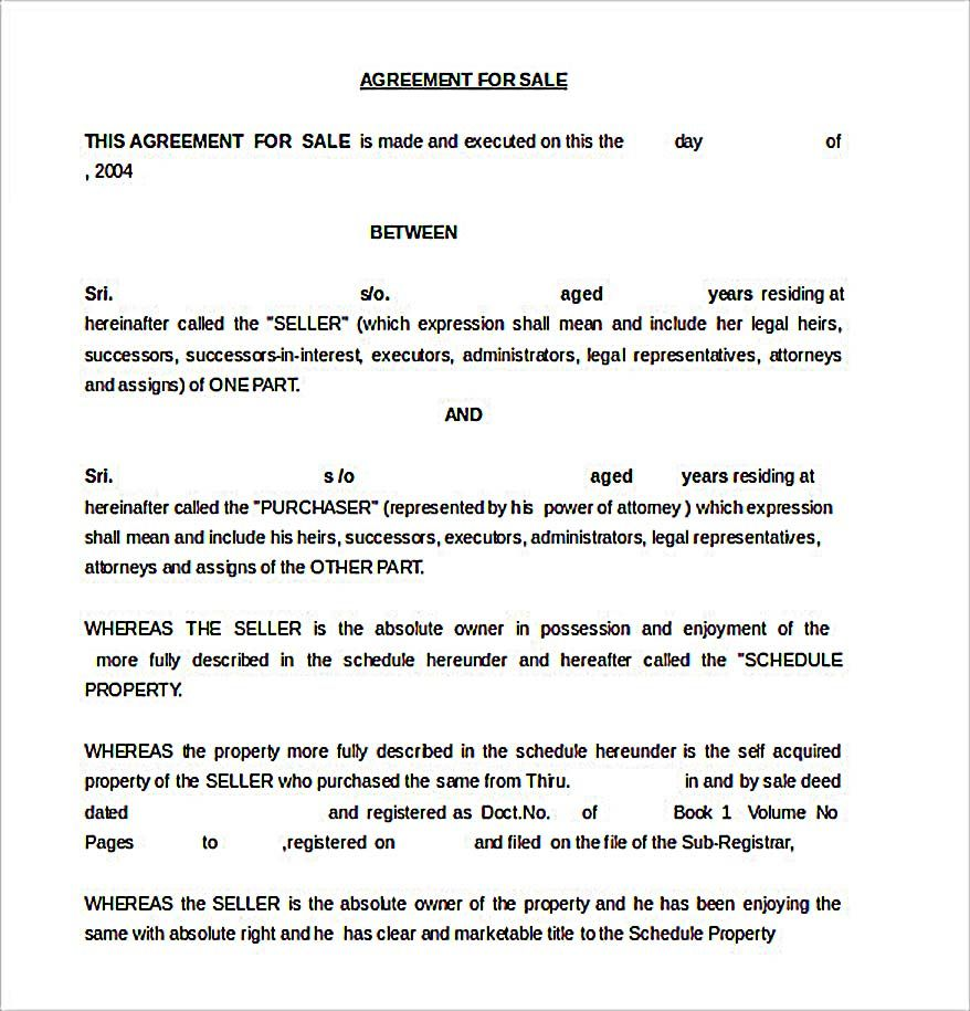 Reliable Sales Agreement Template For Free To Copy