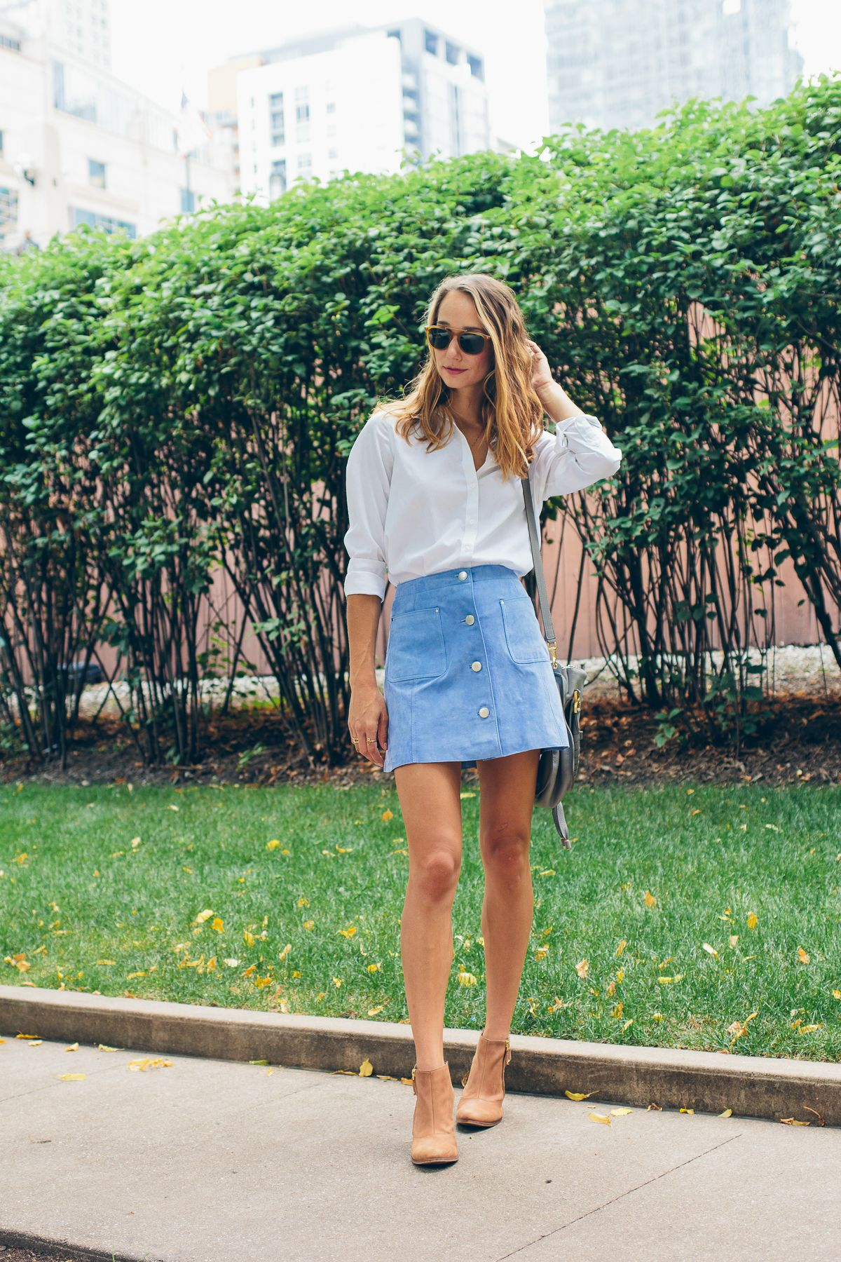 Buttoned Suede Skirt | Suede skirt