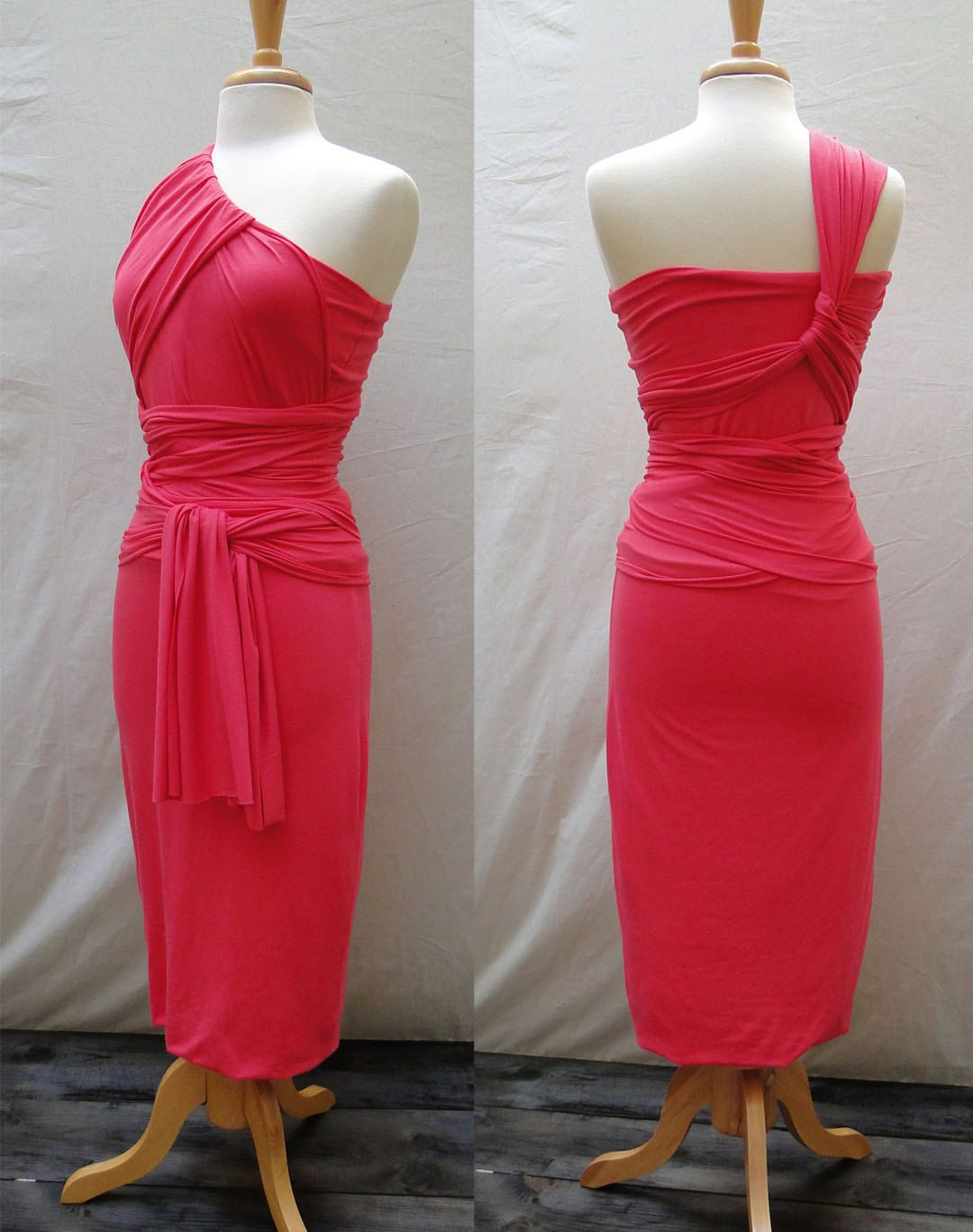 Infinity dress: one shoulder