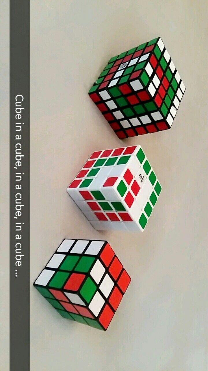 Zauberwurfel Rubiks Cube Coole Muster Mit 3 3 3 4 4 4 5 5 5 Cube In A Cube Zauberwurfel Wurfel Coole Muster