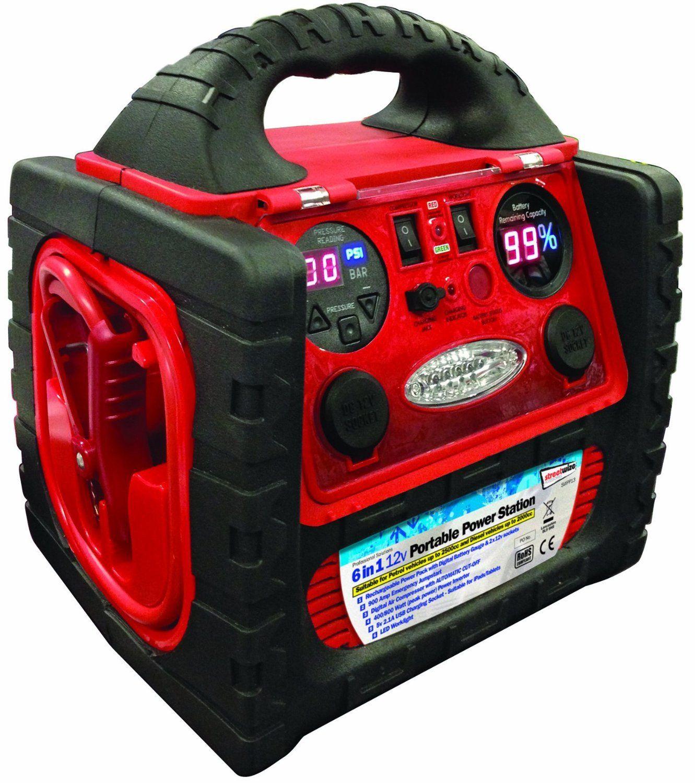 12v 900A 6 in 1 Portable Digital Car Battery Jump Starter