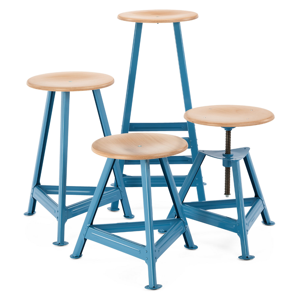 Chemnitz Stool Large Pastel Blue Ral 5024 Manufactum Stool Restaurant Tables And Chairs Chemnitz