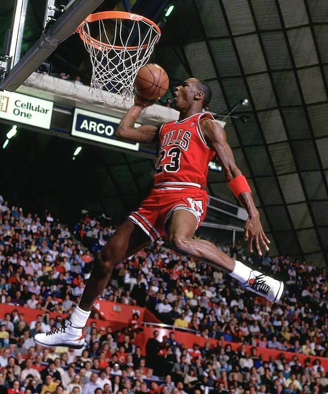 michael air jordans top slam dunks