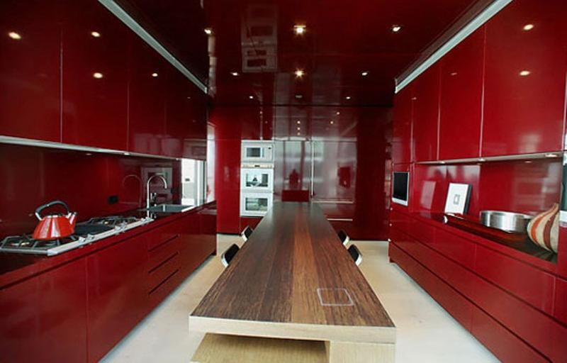 15 contemporary kitchen designs with red cabinets rilane