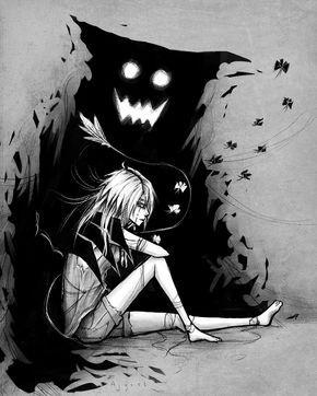 Es cuestión de tiempo   Dark anime, Anime, Creepy art