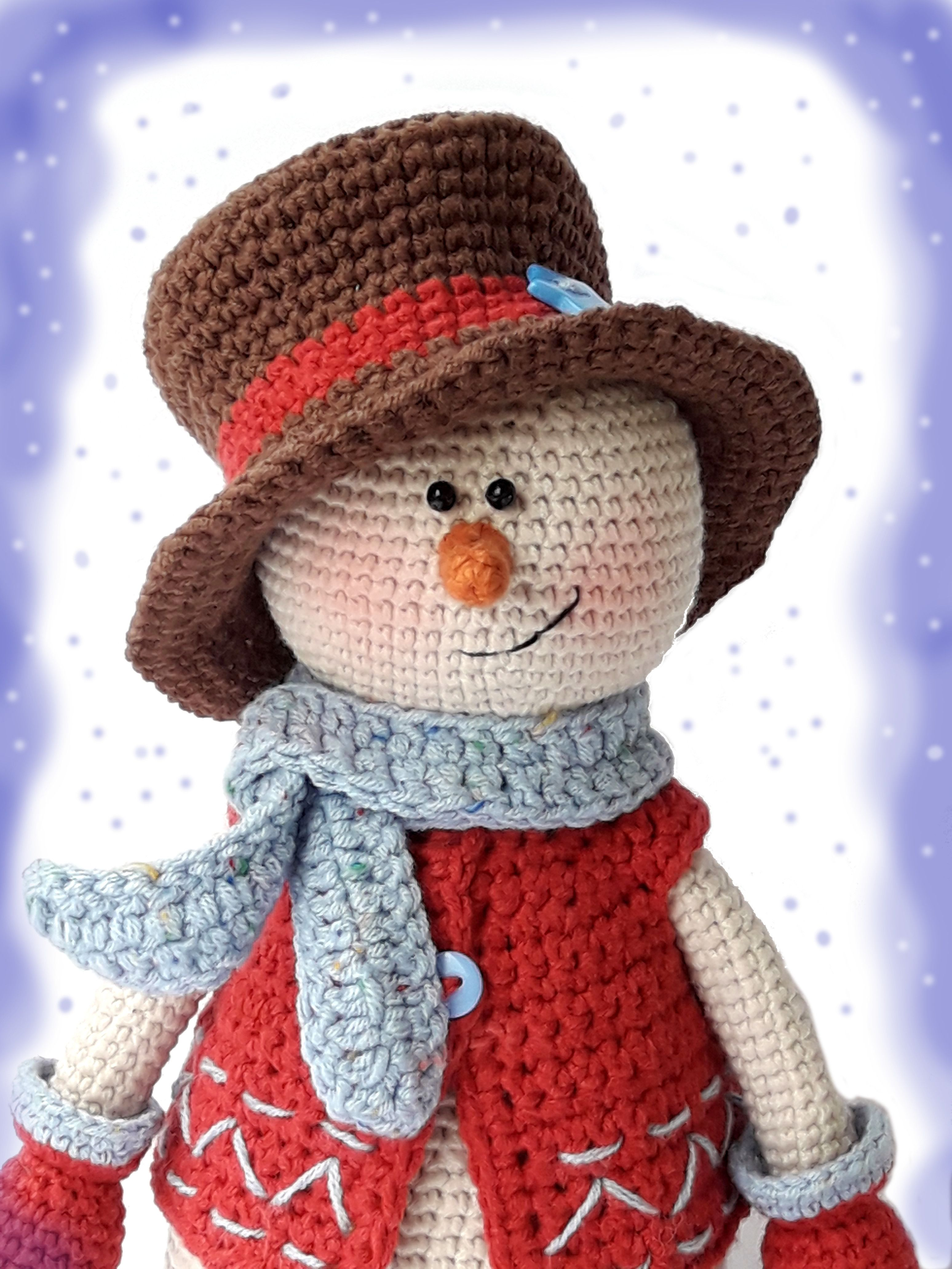 Kevin the Snowman pattern by Nelly Shkuro | Crocheted toys ...