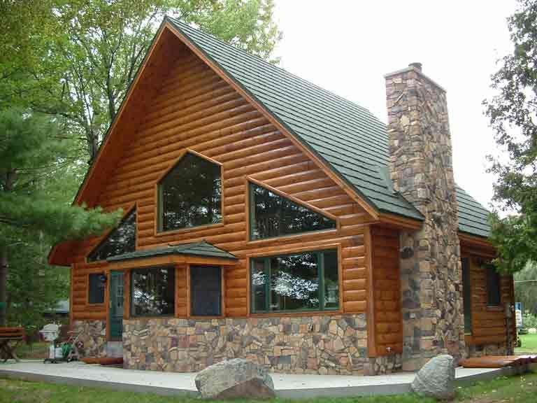 Log Look Vinyl Siding Click On The Photos For Larger Views And Product List Used On That Log Cabin Exterior Wood Siding Exterior House Exterior