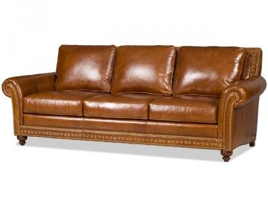 Bradington Young Baldwin Leather Sofa Custom Made In The USA : Leather  Furniture Expo