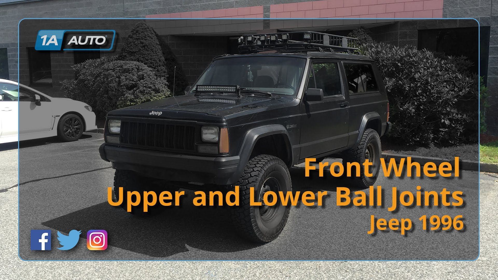 How To Replace Install Front Upper Lower Ball Joints 90 01 Jeep