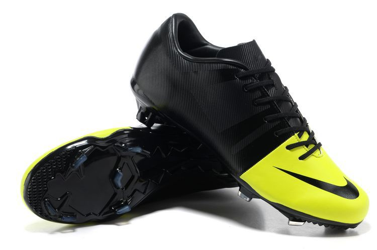 New Arrival Soccer Cleat Mercurial Glide III AG - Black Yellow FG Soccer  Shoes US$79.99