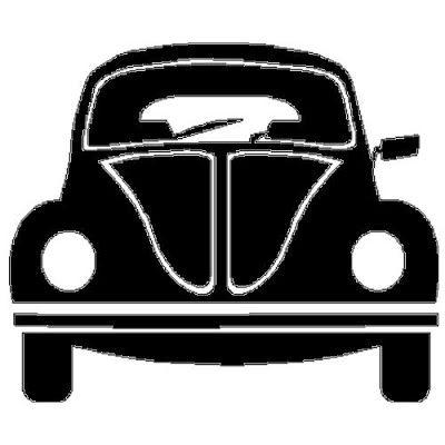 applicatie en zo: veloursmotief VW bus blauw of roze ...