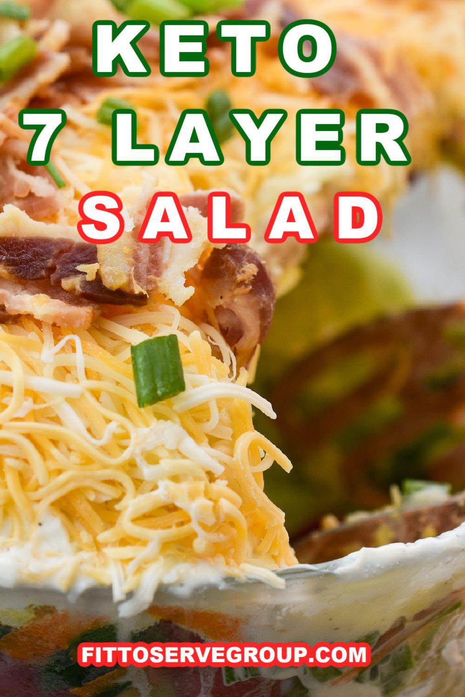 Keto 7 Layer Salad In 2020 Layered Salad Keto Diet Food List Layered Salad Recipes