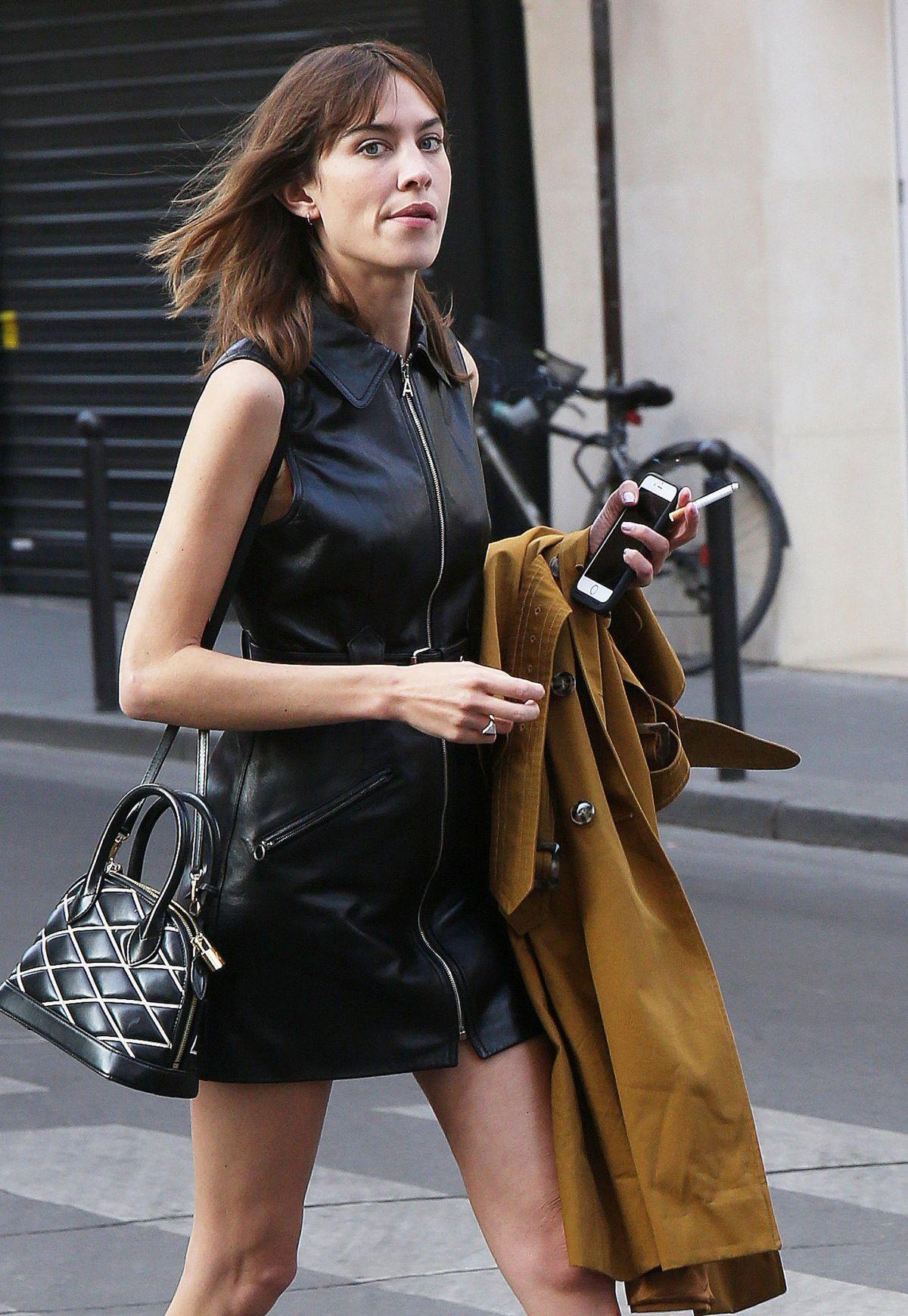 Alexa Chung Leaves Colette In Paris 06 01 2017