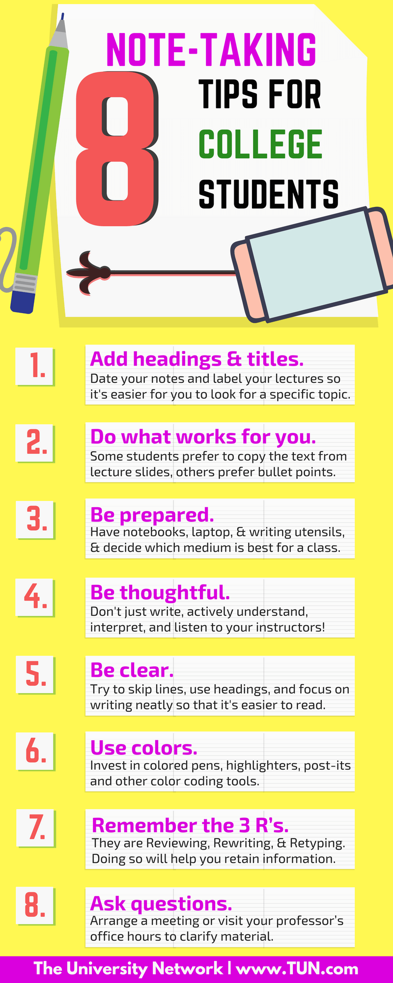 exam tips for college students