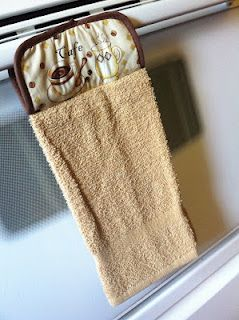Hot Pad Hand Towel - great, QUICK, & Crafty Mother's Day idea!!